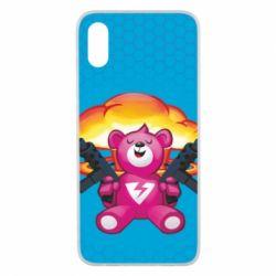 Чехол для Xiaomi Mi8 Pro Fortnite pink bear - FatLine