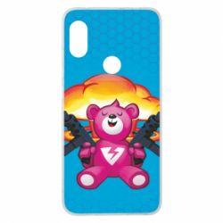 Чехол для Xiaomi Redmi Note 6 Pro Fortnite pink bear - FatLine
