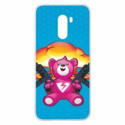 Чехол для Xiaomi Pocophone F1 Fortnite pink bear - FatLine