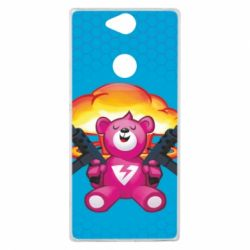 Чехол для Sony Xperia XA2 Plus Fortnite pink bear - FatLine