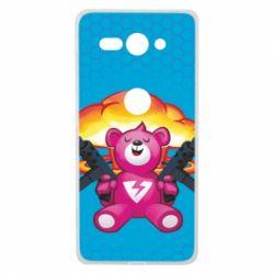 Чехол для Sony Xperia XZ2 Compact Fortnite pink bear - FatLine