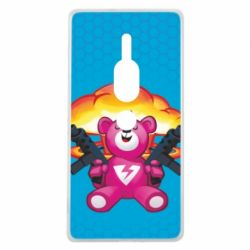 Чехол для Sony Xperia XZ2 Premium Fortnite pink bear - FatLine