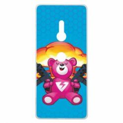 Чехол для Sony Xperia XZ3 Fortnite pink bear - FatLine