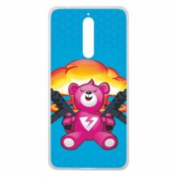 Чехол для Nokia 8 Fortnite pink bear - FatLine