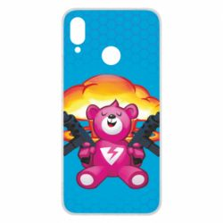Чехол для Huawei P Smart Plus Fortnite pink bear - FatLine