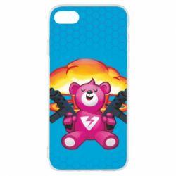 Чехол для iPhone 8 Fortnite pink bear - FatLine