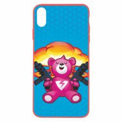 Чехол для iPhone X/Xs Fortnite pink bear - FatLine