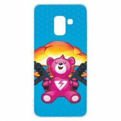 Чехол для Samsung A8 2018 Fortnite pink bear - FatLine