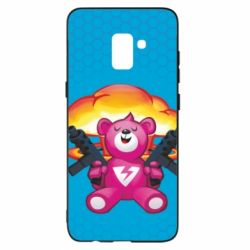 Чехол для Samsung A8+ 2018 Fortnite pink bear - FatLine