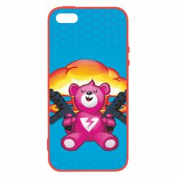 Чехол для iPhone5/5S/SE Fortnite pink bear - FatLine