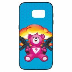 Чехол для Samsung S7 Fortnite pink bear - FatLine
