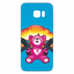 Чехол для Samsung S7 EDGE Fortnite pink bear - FatLine