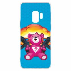 Чехол для Samsung S9 Fortnite pink bear - FatLine
