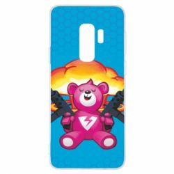 Чехол для Samsung S9+ Fortnite pink bear - FatLine
