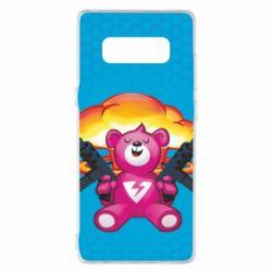 Чехол для Samsung Note 8 Fortnite pink bear - FatLine