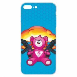 Чехол для iPhone 8 Plus Fortnite pink bear - FatLine