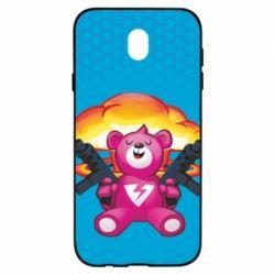 Чехол для Samsung J7 2017 Fortnite pink bear - FatLine