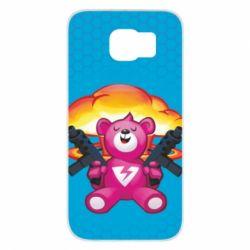 Чехол для Samsung S6 Fortnite pink bear - FatLine