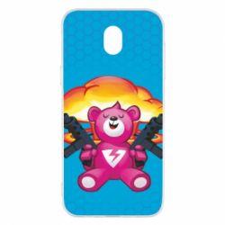 Чехол для Samsung J5 2017 Fortnite pink bear - FatLine