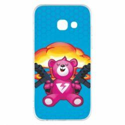 Чехол для Samsung A3 2017 Fortnite pink bear - FatLine