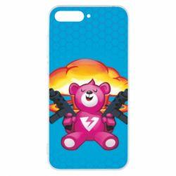 Чехол для Huawei Y6 2018 Fortnite pink bear - FatLine