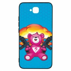 Чехол для Huawei Y6 Pro Fortnite pink bear - FatLine