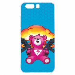 Чехол для Huawei P10 Fortnite pink bear - FatLine