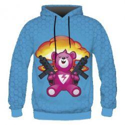 Мужская 3D толстовка Fortnite pink bear - FatLine