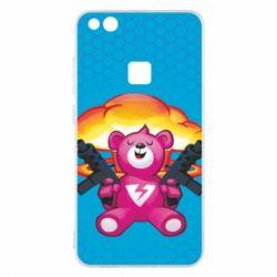 Чехол для Huawei P10 Lite Fortnite pink bear - FatLine