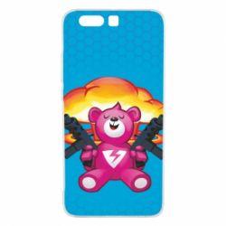 Чехол для Huawei P10 Plus Fortnite pink bear - FatLine