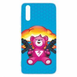 Чехол для Huawei P20 Fortnite pink bear - FatLine