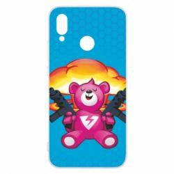 Чехол для Huawei P20 Lite Fortnite pink bear - FatLine