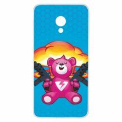 Чехол для Meizu M5 Fortnite pink bear - FatLine