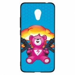 Чехол для Meizu M5c Fortnite pink bear - FatLine
