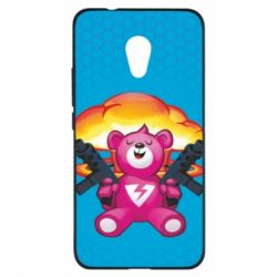 Чехол для Meizu M5s Fortnite pink bear - FatLine