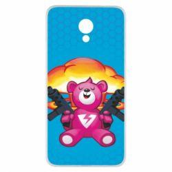 Чехол для Meizu M5 Note Fortnite pink bear - FatLine