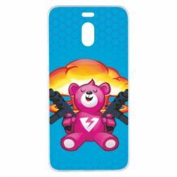 Чехол для Meizu M6 Note Fortnite pink bear - FatLine