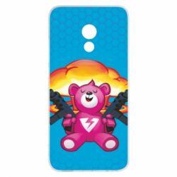 Чехол для Meizu Pro 6 Fortnite pink bear - FatLine