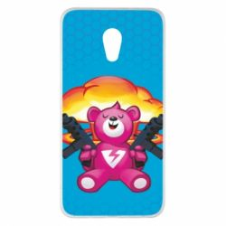 Чехол для Meizu Pro 6 Plus Fortnite pink bear - FatLine