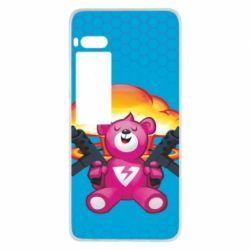 Чехол для Meizu Pro 7 Fortnite pink bear - FatLine