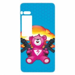 Чехол для Meizu Pro 7 Plus Fortnite pink bear - FatLine