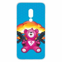 Чехол для Meizu 15 Fortnite pink bear - FatLine