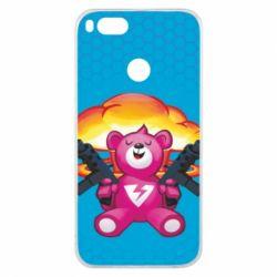 Чехол для Xiaomi Mi A1 Fortnite pink bear - FatLine