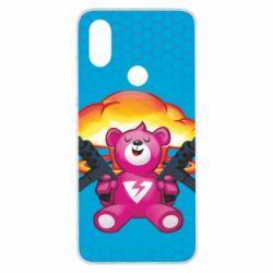 Чехол для Xiaomi Mi A2 Fortnite pink bear - FatLine