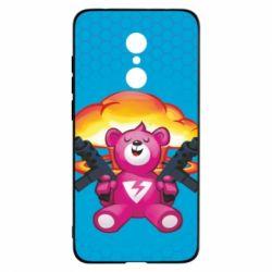 Чехол для Xiaomi Redmi 5 Fortnite pink bear - FatLine