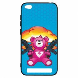 Чехол для Xiaomi Redmi 5a Fortnite pink bear - FatLine