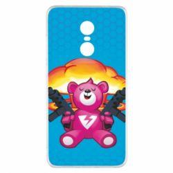 Чехол для Xiaomi Redmi Note 4x Fortnite pink bear - FatLine