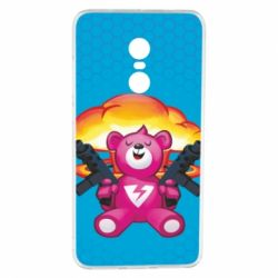 Чехол для Xiaomi Redmi Note 4 Fortnite pink bear - FatLine