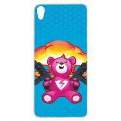 Чехол для Sony Xperia XA Fortnite pink bear - FatLine