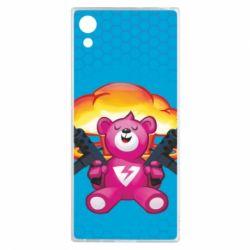Чехол для Sony Xperia XA1 Fortnite pink bear - FatLine
